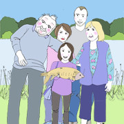 Family Portrait – 7 characters plus fish!!