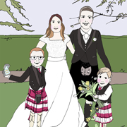 Wedding Portrait – 4 characters