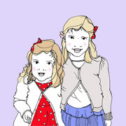 Two Girls Double Portrait