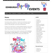 Edinburgh Pop-Up Events – Website