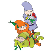 Coloured Gnome Illustrations for Plant 'N' Grow Packaging