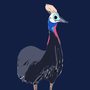 Day 079 – Cassowary at Edinburgh Zoo