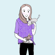 Day 106 – Girl with 2 pet rats